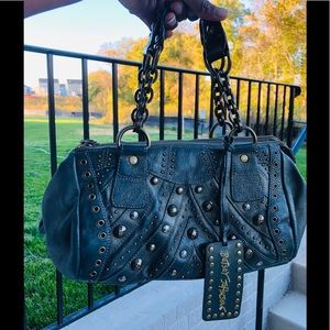 VINTAGE BETSEY JOHNSON STUDDED HANDBAG